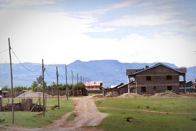 A dirt road in Free Area, looking towards Kajuwere, in 2000