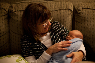 Cindy Grabiec holding Henry at our house in Mattoon, Illinois on November 18,  2011. (Jay Grabiec)