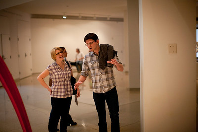Corey Grabiec and Kathryn Harris at the Art Institute of Chicago in Chicago, Illinois on April 16, 2011.  (Jay Grabiec)