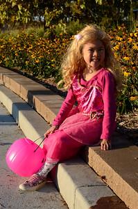 Halloween--Lindsay dressed as Barbie in Princess Charm School