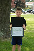 Tim with his Young Author award