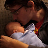 Corey Grabiec holding Henry at our house in Mattoon, Illinois on November 18,  2011. (Jay Grabiec)