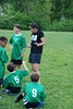 Julie, coaching the boys' spring intramural league soccer team