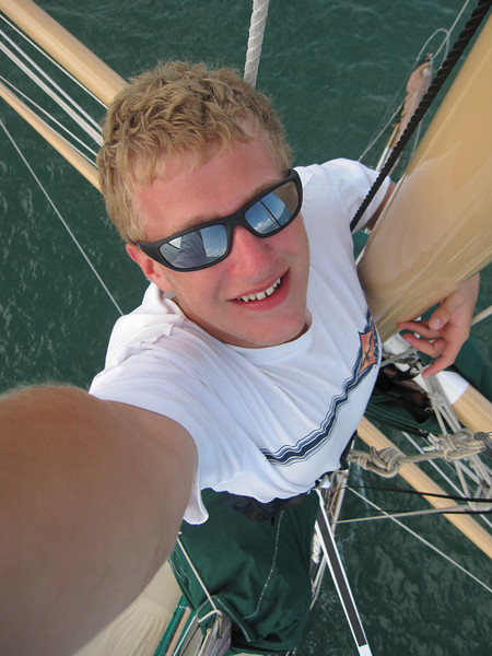 Self portrait from the top of the mast.