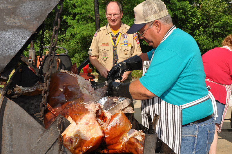Our friend Bill Burwinkel roasted us a delicious pig.