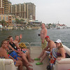 We rented a pontoon boat along with the Bresnens and had a great day on the bay.