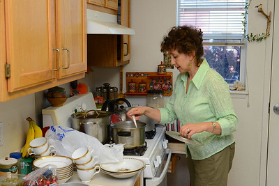 Larisa preparing food