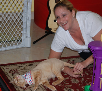 Dara thinks Boomer is now purr-fect! and so does Boomer...