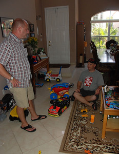 David and Craig check out the toys....