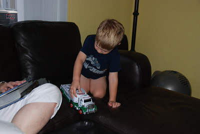 ...check out those Hess trucks!
