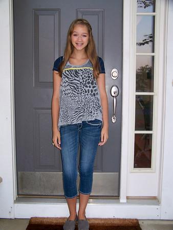 2012- 08- 12 First day of school (11, 9, 6, 3), Jillies first date