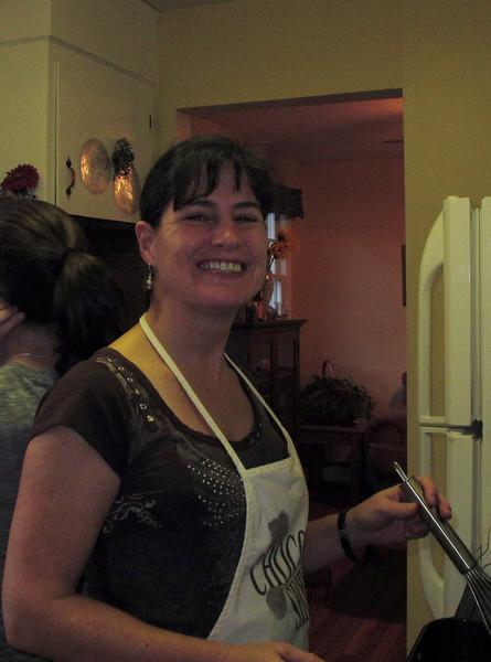 Jodi prepping Thanksgiving