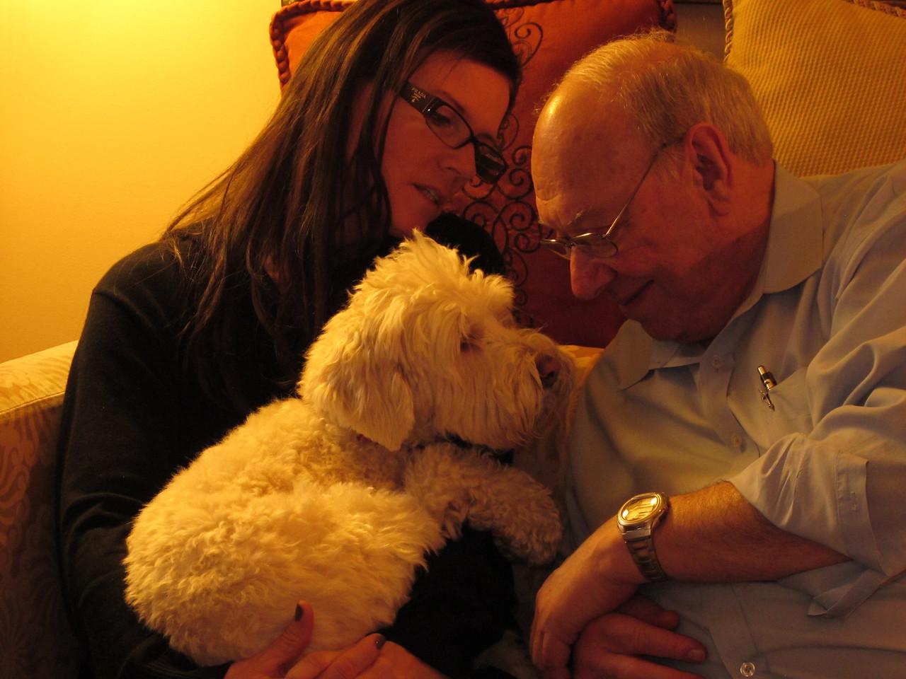 Teri, Roxie, Dad
