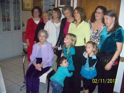 Gertie, Eloise, Kathy, Betty Jo, Cindi, Nancy, Betty, Ginny, Hope, Faith, Izabella - 4 generations represented