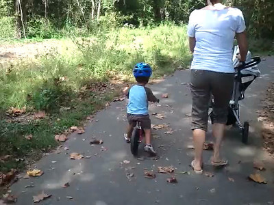 Family Stroll at Riverview Park w/ Master Bike Rider Cael Cruz Cromer (9/30)