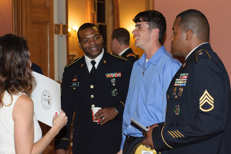 Staci ,  Sgt. Cosom  ,  Clayton,   Sgt. Jackson<br /> High School Enlistee Recognition Ceremony @ Old State Capitol Baton Rouge