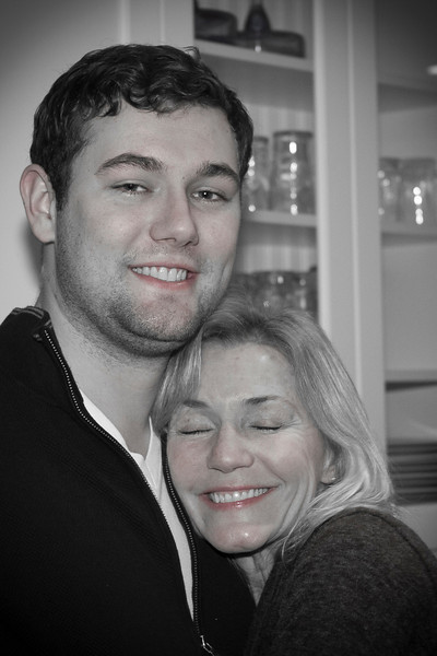 Ryan and his mommy