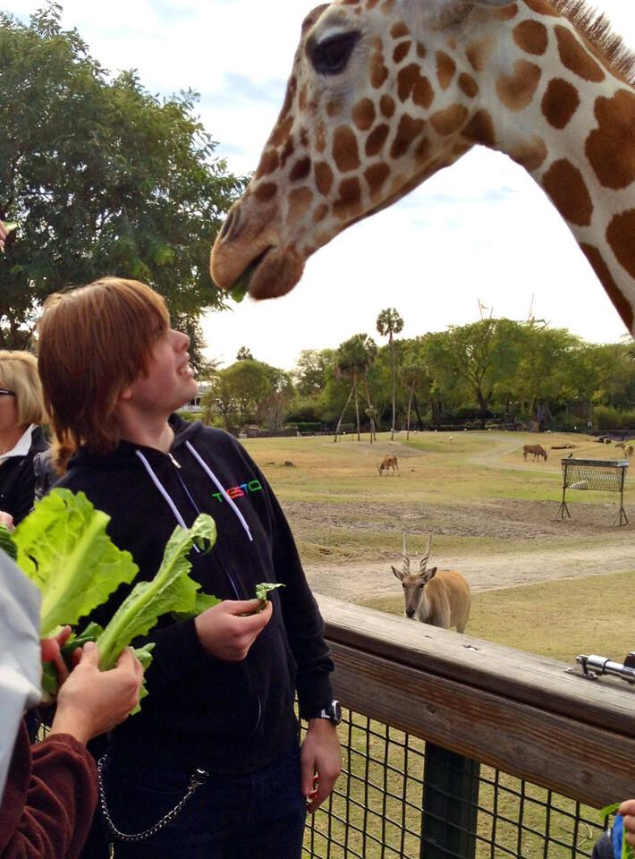 Mike on safari tour Busch Gardens