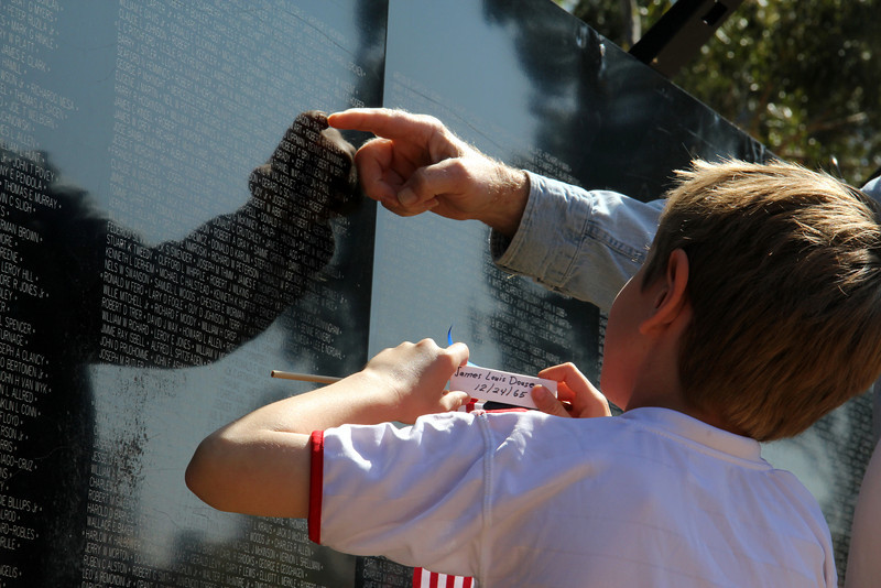 "The traveling  Vietnam War Wall Memorial  Tri-City park in Placentia Ca <br /> ""the wall that heals"""