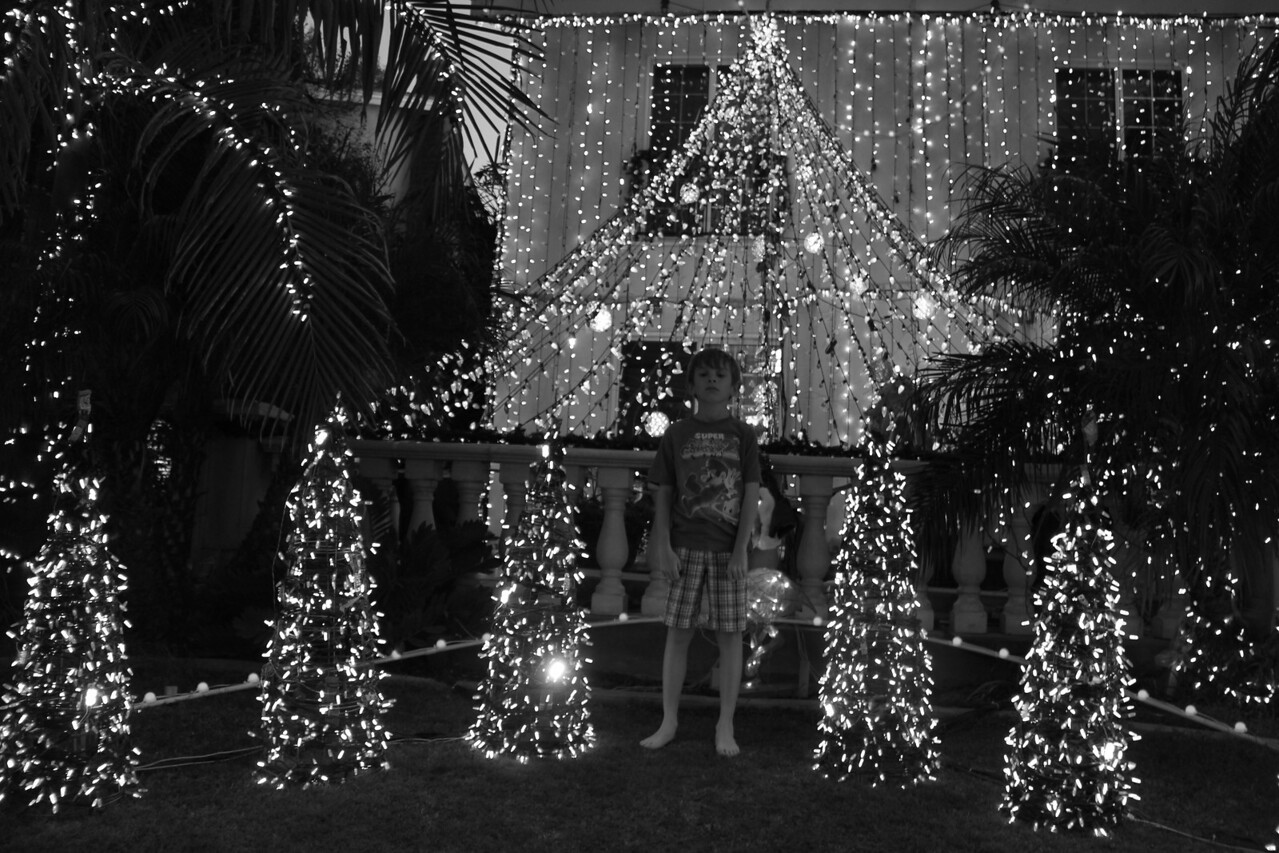 bare feet and brothers light show.