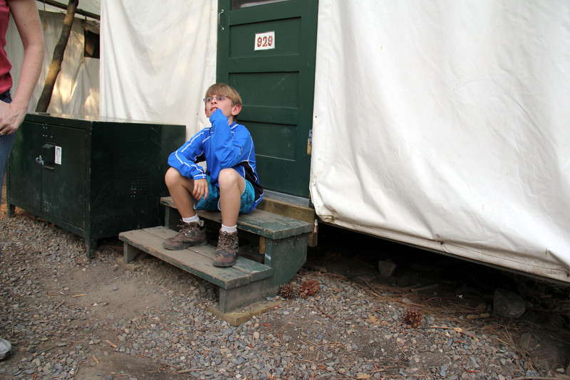 On the steps - Tent Cabin - Curry Village