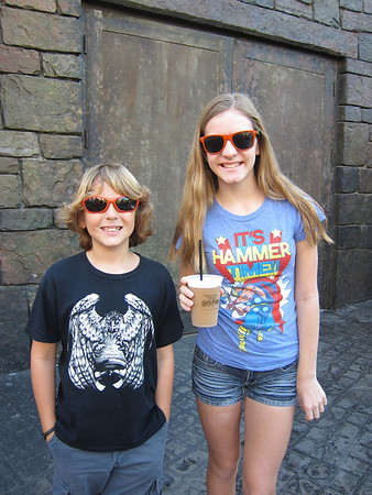 January 21, 2012-We went to Universal Studios and Islands of Adventure since our tickets were about to expire.  We had a cup of frozen Butterbeer!!  Delicious.  Patrick rode Rip Ride Rockit and didn't like it very much, but Harry Potter and Hulk were awesome as usual.