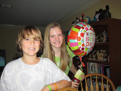 February 10, 2012-Took Sarah a balloon and Dr. Pepper to school from Grandma and ate lunch with Patrick at school.