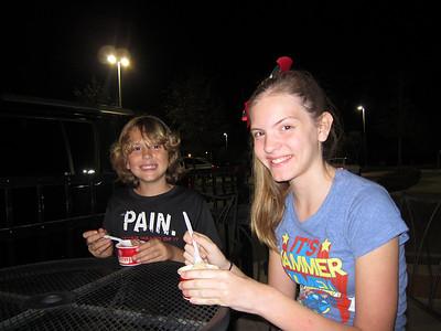February 1, 2012- Cold Stone Ice Cream for dessert!!