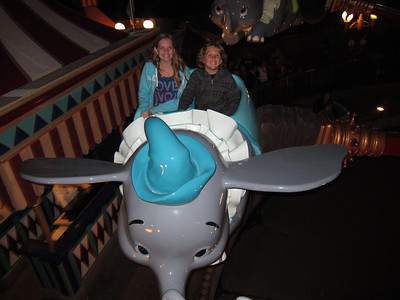 January 7, 2012-We went to Disney World to ride Dumbo for the last time sitting in its original location in the park.  They are closing it to move it to the new location in New Fantasyland.