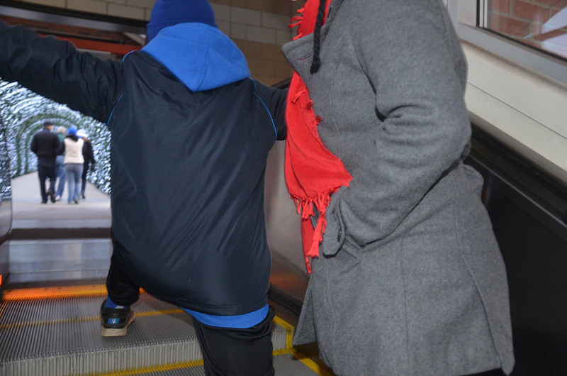 Sam - ELF impersonation on the escalator