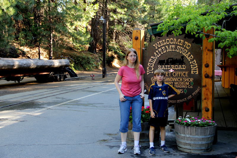 Yosemite Sugar Pine Rail Road. - Closed.  They let us hang out and take pictures