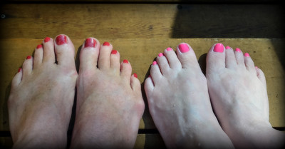 Our classic foot photo.  used to take these back in the days before good cameras when we visited each other to prove we were actually in the same place together.  Now it is a tradition