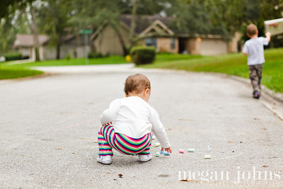 10-09-2012  Sidewalk chalk... not just for eating!