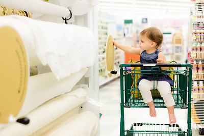 12-03-2012  At Jo Anns Fabric.  Lilla and I were shopping for my big Christmas project!  I can't wait until she's ready to do crafty things with me!  By the way.... I LOVE THIS PHOTO SO MUCH!!!!
