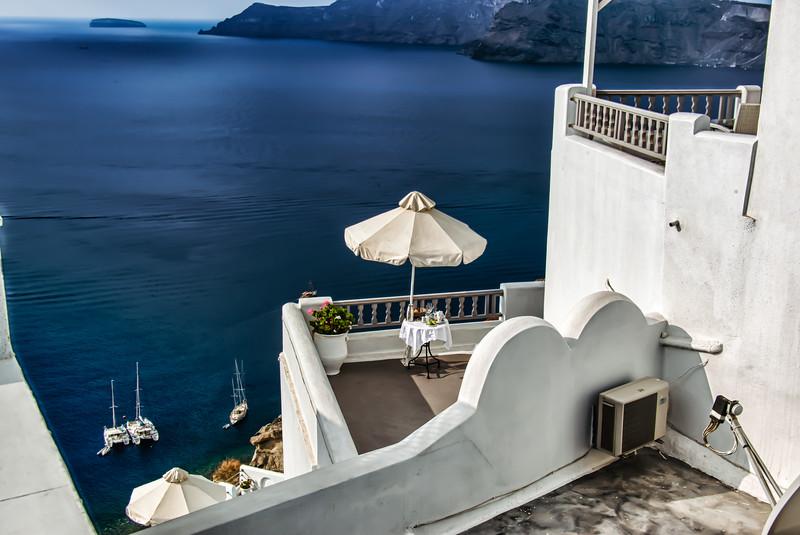Atop Santorini
