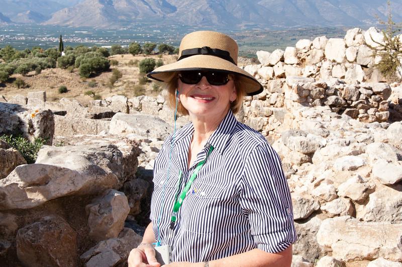 Climbing the Mycenae archaeological site