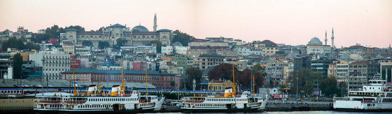 Entering the port of Istanbul
