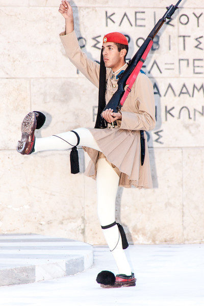 Changing of guards at Greek Parliament, Athens