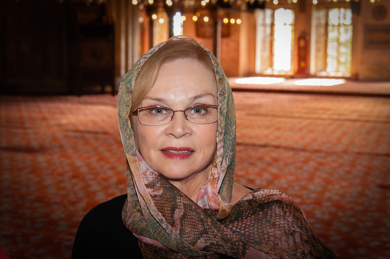 Mom at the Blue Mosque Istanbul