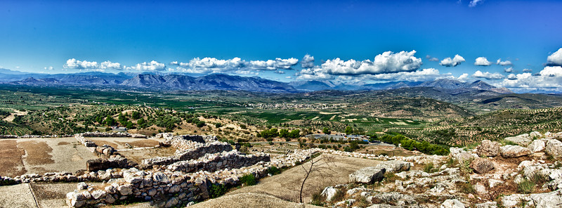 Mycenae archaeological site from the top (king's throne room)