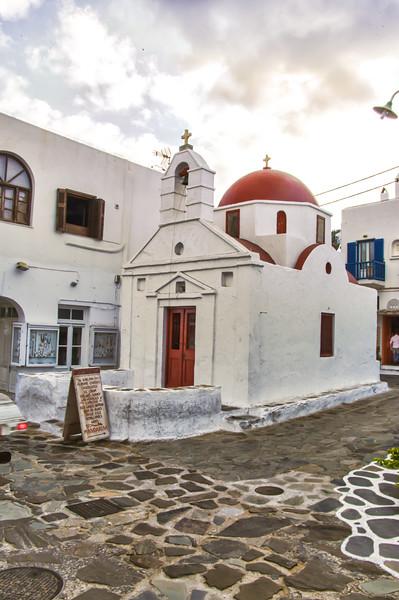 One of the many churchs Mykonos Island Greece