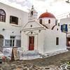 One of the many churchs Mykonos Island Greece