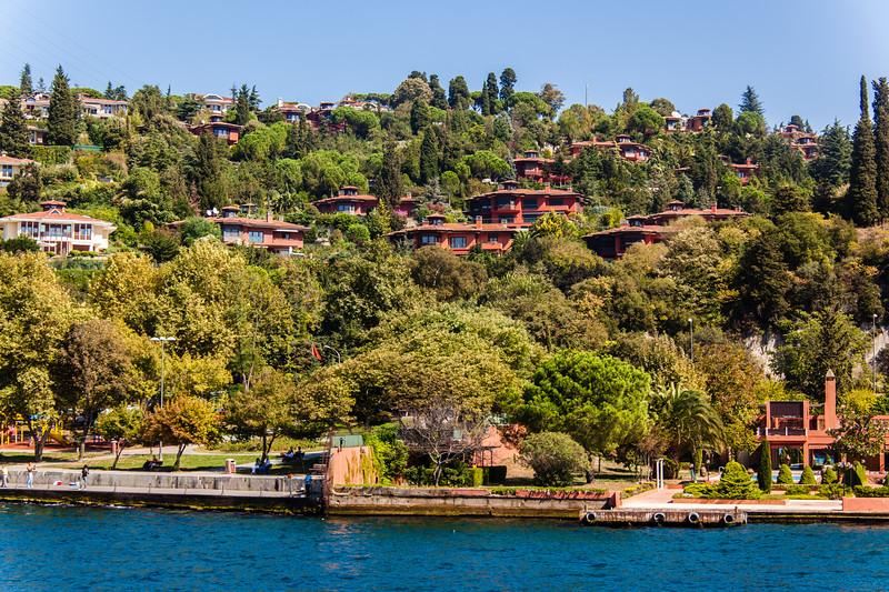 Homes on the Bosphorus Strait