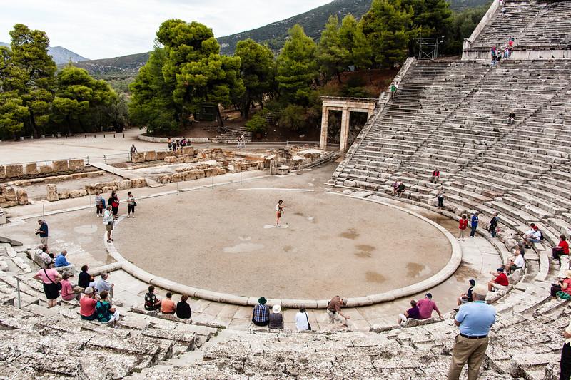 Epidaurus Theatre famous for its acoustics