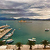 "Nafplion, Greece seaside port from our hotel room (Click on ""Map This"")"