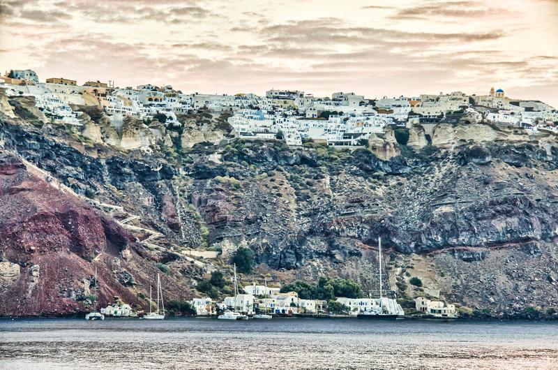 Santorini Isle Greek early morning
