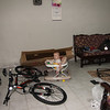 Sienna helping Daddy put together his bike