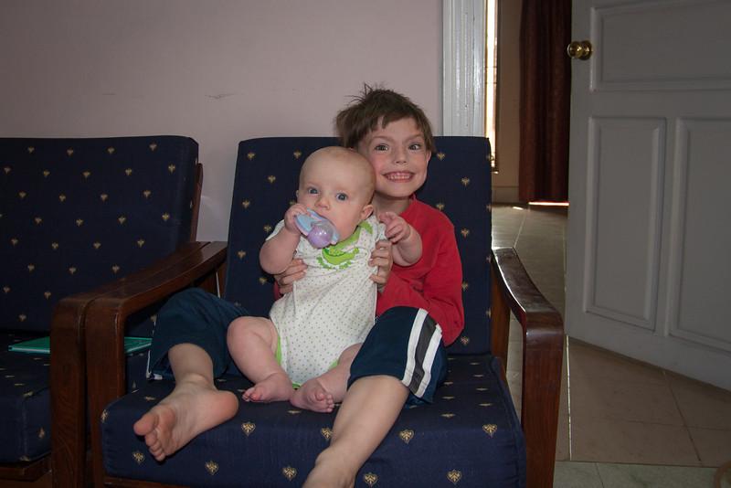 Sienna with her friend David
