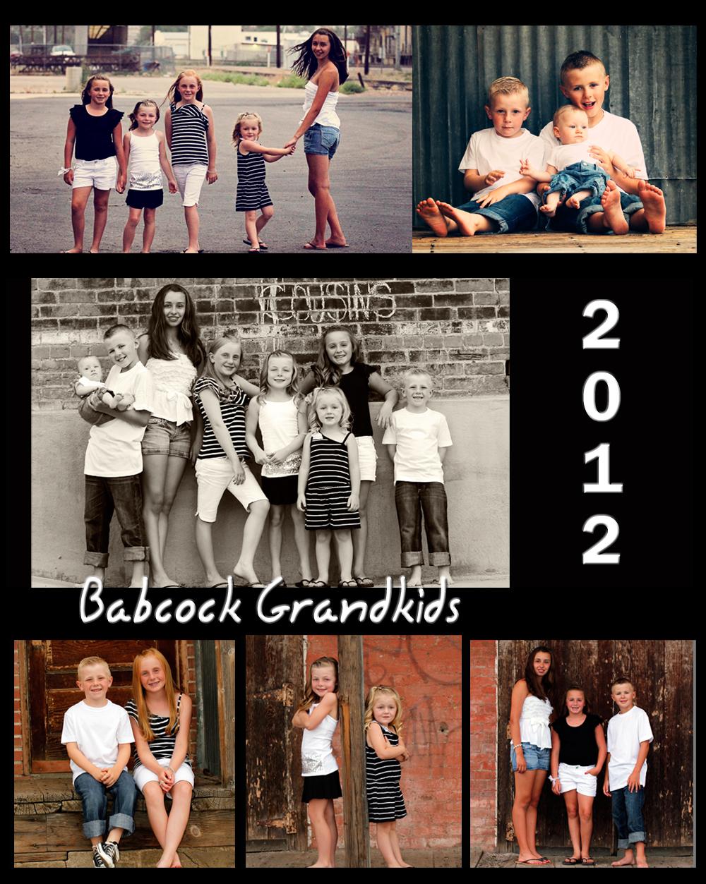 Babcock Grandkids collage