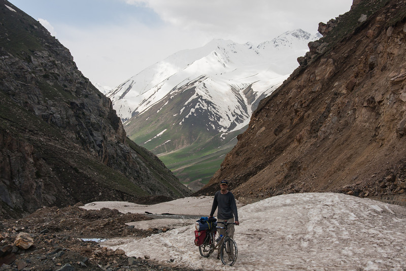 Day 4: we headed on up the main valley and encountered more and more old snow on the road